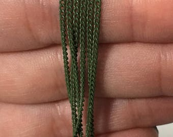 Juniper Green Rolo Chain [9in long]