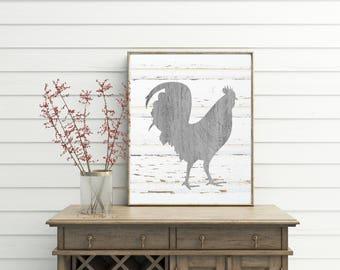 Rooster Decor  printable  farmhouse  french country  rooster kitchen decor  kitchen  decorRooster decor   Etsy. Country Rooster Kitchen Decor. Home Design Ideas