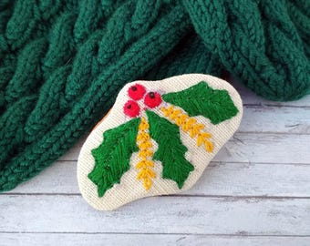 Christmas gift for sisters Embroidered brooch