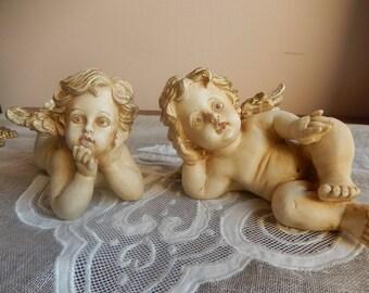 Angel or Cherub coated painted resin