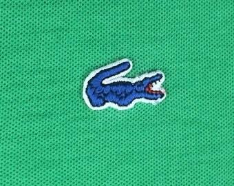Vintage Izod Polo Shirt Size 16 medium mens menswear fitted cotton 1980s Old School prep blue alligator preppy preppie Made in Japan