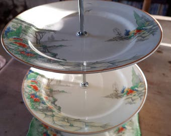 Vintage Midwinter Porcelon Burslem Cake Stand for Muffins and Cup Cakes