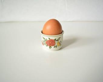 Vintage Villeroy & Boch Eggcup with rose pattern