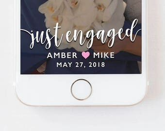 Snapchat Engagement Filter, Engagement Geofilter, Engagement Party, Wedding Engagement Filter, Custom Wedding Geofilter, Engagement Filter