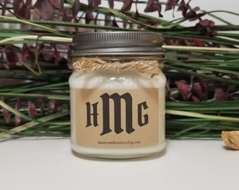 Monogram Candles - Monogram Gifts - 8oz Personalized Candles - Coworker Gifts - Best Friend Gift - Birthday Candles - Graduation Gifts