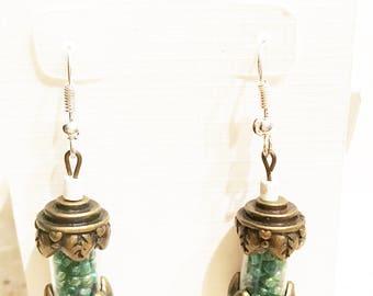 Aqua Tube Earrings