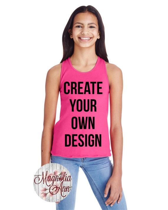 Girls Racerback Tank, Girls Tank Top, Kids Tank Top, Kids Custom Tank, Custom Shirts for Kids, Custom Clothing, Racerback Tank, Custom Girls