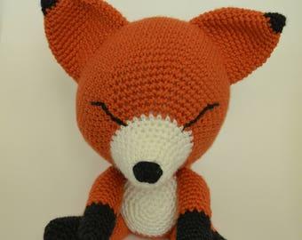 Fox amigurumi crochet toy