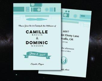 STAR WARS Customized Printable Wedding Invitation
