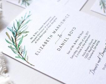 Olive Branch Wedding Invitation / Printable Invitation Suite / Olive leaf Invitations Set / Green Leaves Invitation / Boho Wedding Invite