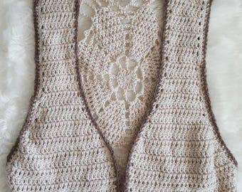 Flower vest, crochet vest, hippie, boho