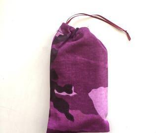Purple camouflague tarot bag