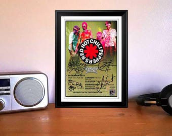 Red Hot Chili Peppers The GetAway Tour 2016 Concert Flyer Autographed Signed Photo Print