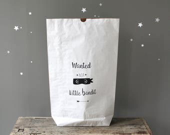 "Paper bag ""Little Bandit"" customizable"