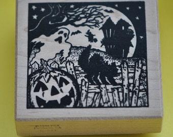 Halloween Rubber Stamp  PSX  1988  G541  Vintage
