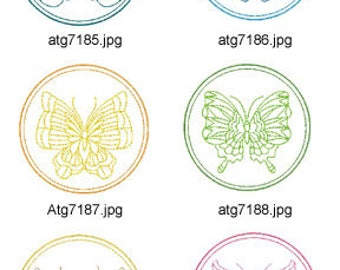 Butterfly-Coasters ( 10 Machine Embroidery Designs from ATW ) XYZ17E
