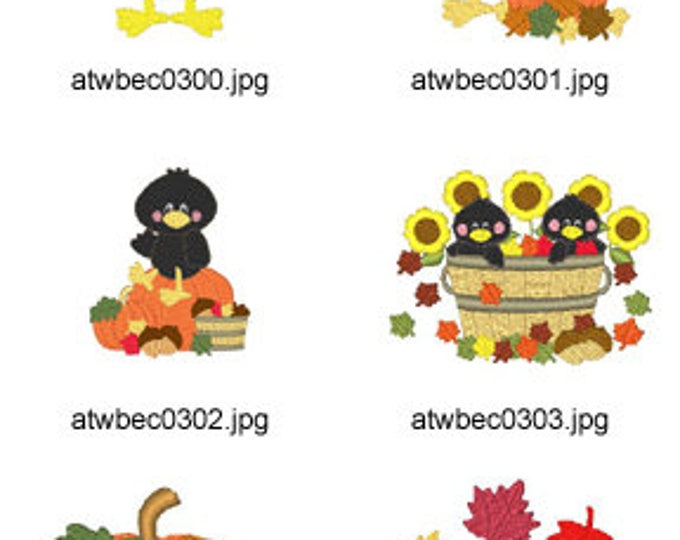Something-To-Crow-About ( 10 Machine Embroidery Designs from ATW ) XYZ17I