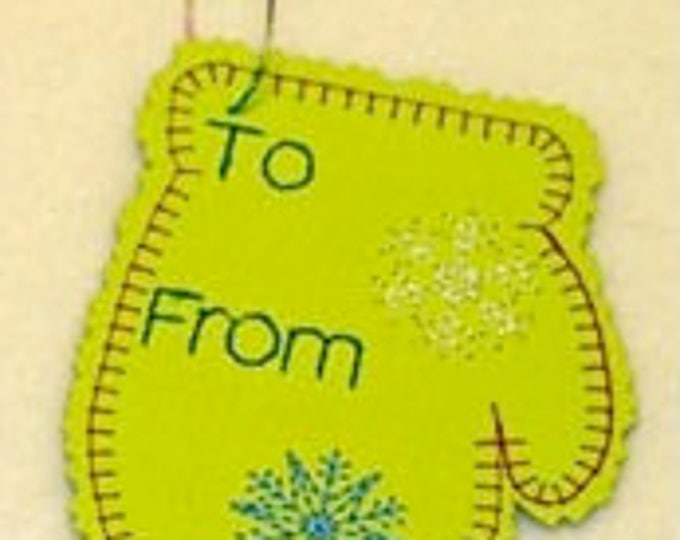 Christmas Gift Tags  ( 18 Machine Embroidery Designs from ATW )