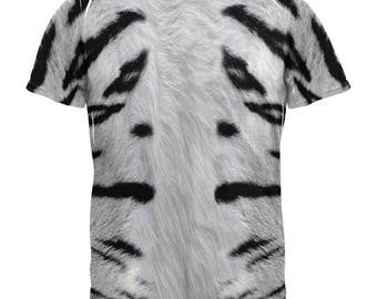 White Siberian Tiger Costume All Over Adult T-Shirt