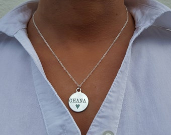 Ohana necklace, Ohana means family, Ohana jewelry, Ohana jewellery, Ohana pendant, ladies girls jewelry, ohana family, Hawaii Ohana charms