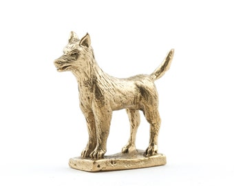 Miniature Brass Dog