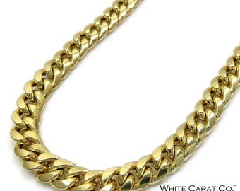 10K Gold 7mm Semi-Solid Miami Cuban Chain