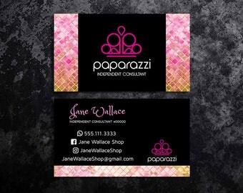 Paparazzi Business Cards Paparazzi Jewelry Paparazzi Accessories Paparazzi Consultant Black and Pink Black and Gold Glitter Business Cards