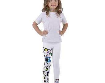 Cheetah Kids leggings, Cute Leopard Pants, Kids Gymnastic Pants, Snow Leopard Patter, Rainbow Leopard Animal Print, Kids Animal Clothing