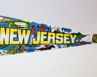 New Jersey - Vintage Pennant