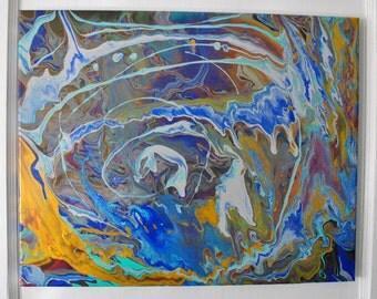 "Original Acrylic Fluid Art: ""Wandering"""