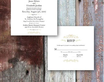 Simple & Elegant Wedding Invitation and RSVP