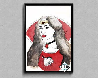 Countess Bathory / Bloody Countess / Queen / Vampire / Illustration