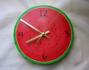 Watermelon Clock // Summer Home Decor