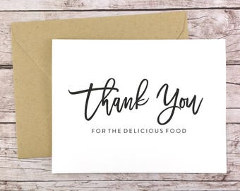 Thank You for the Delicious Food Card, Caterer Thank You Card, Wedding Vendor Thank You - (FPS0017)