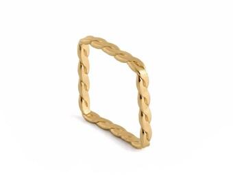Goldring  Braided gold ring | Etsy