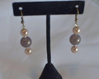 Handmade Beaded pierced dangle EARRINGS #218