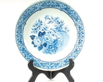 Large Boch Delfts plate, 11.8 inches, Royal Sphinx, wall plate, Blue and White pottery
