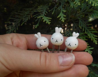 White Rabbit Paperclip / Bookmark - set of three