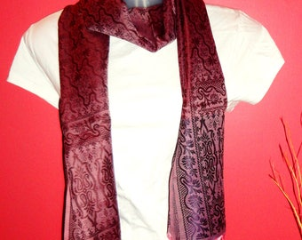 Dark Wine Scarf, Dark Wine Scarf, Lap Scarf, Scarf for Women, Gift Ideas For Friends, Womens Scarf, Scarves and Wraps