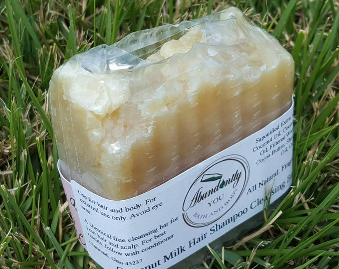 Coconut Milk Shampoo Cleansing Bar | With Shea and Cocoa Butter | Natural Shampoo Bar | Sulfate Free | Paraben Free