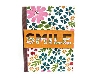 friendship card, friendship cards, just because card, just because cards, handmade greeting cards, garden card, homemade card, smile card