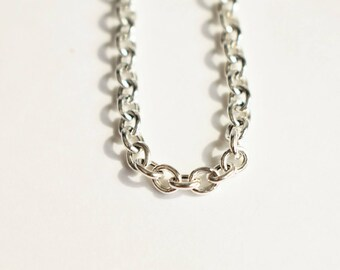 Rolo Chain, Finished Chain Necklace, 925 Sterling Silver Chain, 3mm Chain, Necklace Findings, Jewelry Supplies, Diy Jewelry fp80