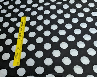 Large Polka Dots Cotton Fabric