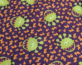 Monster Bash-Candy Corn and Monsters-Cotton Fabric Designed by Sandy Gervais for Moda Fabrics