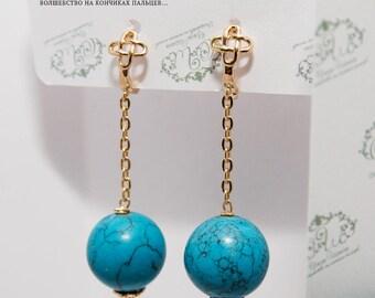 long earrings dangle earrings earrings turquoise turquoise earrings turquoise jewelry blue earrings turquoise gold turquoise dangle gift her