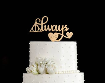 Always cake topper,always cake toppers for wedding,always wedding cake topper,always wedding topper,always cake topper harry potter,6662017