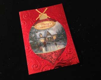 Thomas Kinkade Christmas 1993 Greeting Card