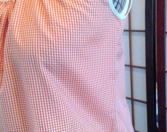 Orange Gingham Shirt - XS/S