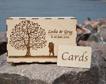 Wedding Card Box,Wedding Gift Card Box,Wedding Box,Wishes Box,Memory Box,Rustic Card Holder,Personalized Rustic Card Box,Gift for the Couple