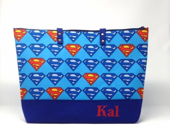 Superman Diaper Bag, Diaper Bag, Baby Shower Gift, New Baby Gift, Nappy Bag, Tote Bag, Daddy Diaper Bag, Baby Bag, Shoulder Bag, Super Hero
